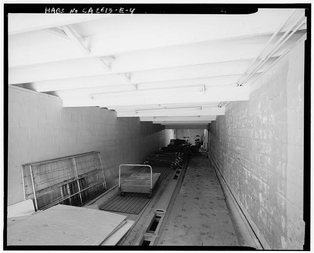 Mill Valley Early Warning Radar  INTERIOR OF BOWLING ALLEY, BUILDING 106, SHOWING LANES, LOOKING NORTHEAST.