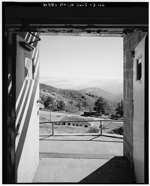 Mill Valley Early Warning Radar Station VIEW OF THE SAN FRANCISCO BAY FROM THE FRONT DOOR OF THE BACHELOR AIRMEN QUARTERS, BUILDING 204, LOOKING EAST.