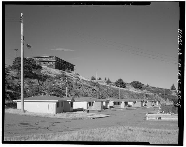 Mill Valley Early Warning Radar Station VIEW OF FAMILY HOUSING, BUILDINGS 600-608, LOOKING NORTH.