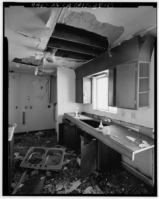 Mill Valley Early Warning Radar Station INTERIOR KITCHEN OF BUILDING 600 LOOKING WEST-SOUTHWEST.